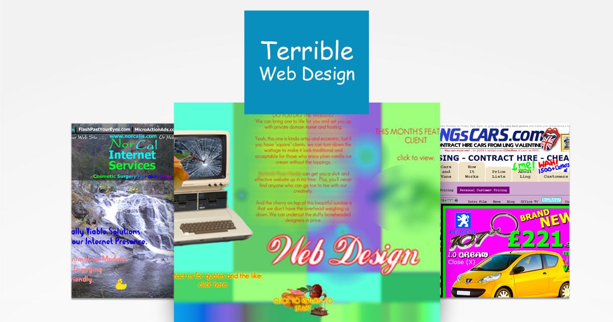 Τα χειρότερα web design trends των τελευταίων χρόνων