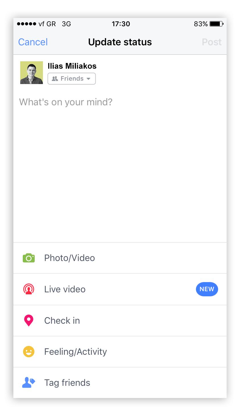 Facebook Live How To Step 1 - Screenshot