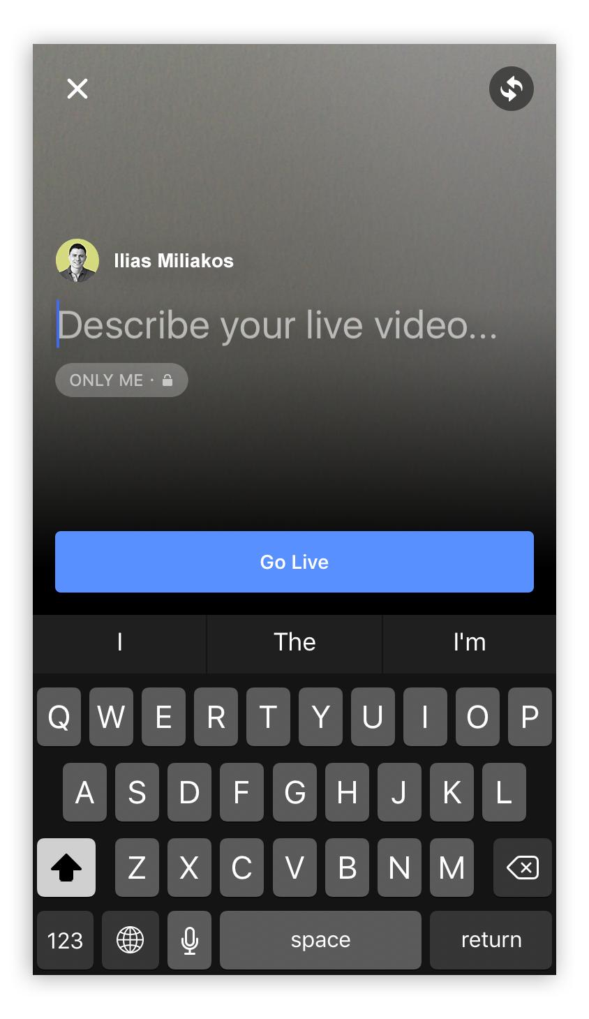 Facebook Live How To Step 5 - Screenshot