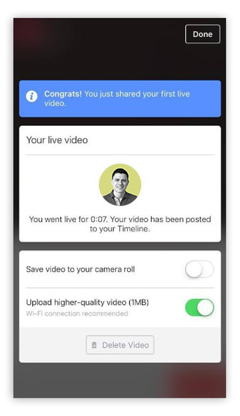 Facebook Live How To Step 9 - Screenshot