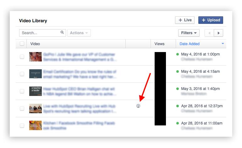 Facebook Live Video Library - Screenshot