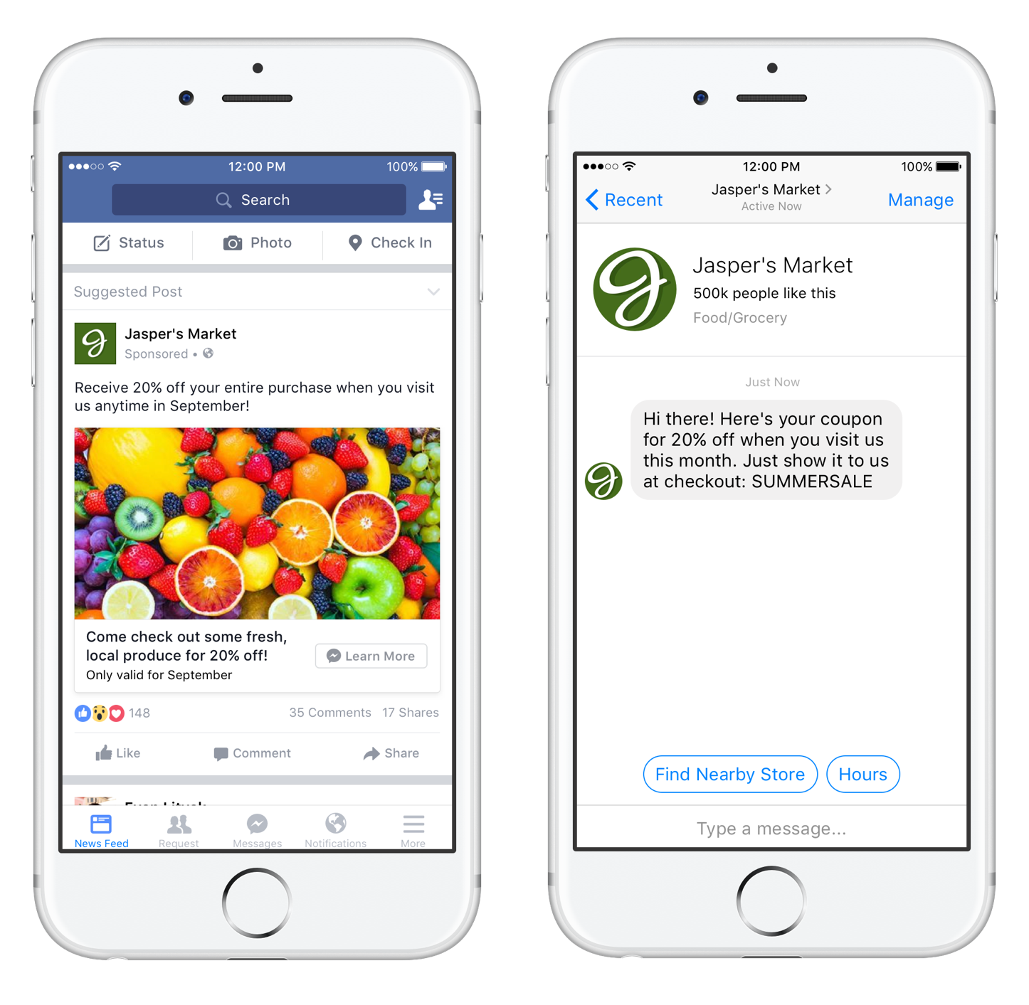 Το Facebook Messenger Destination εν δράσει!