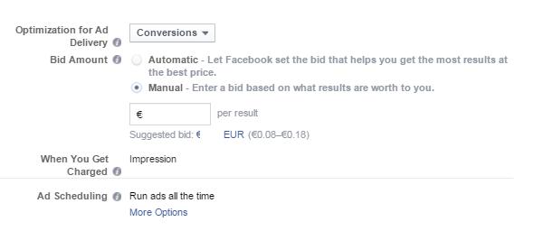 Διαφήμιση facebook  - bidding