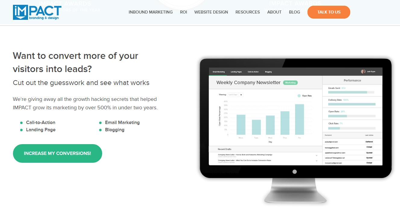 Παράδειγμα χρήσης CTA σε ιστοσελίδα screenshot