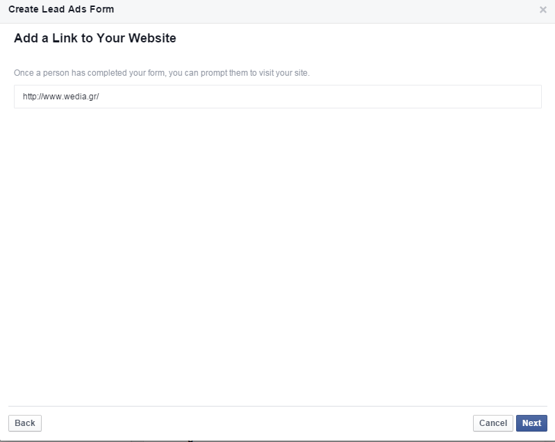 Διαφήμιση στο Facebook Lead Generation Process