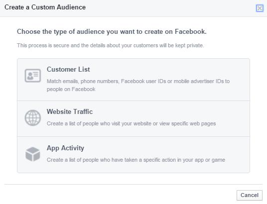 Διαφήμιση facebook  - δημιουργήστε custom audience