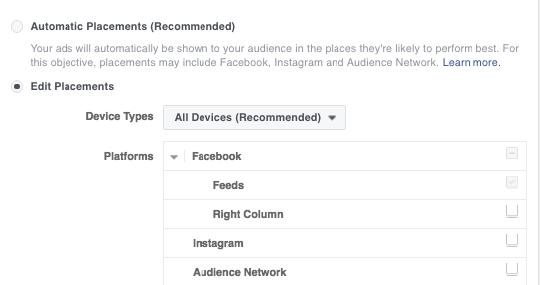 Facebook διαφήμιση Messenger Destination - Βήμα 2