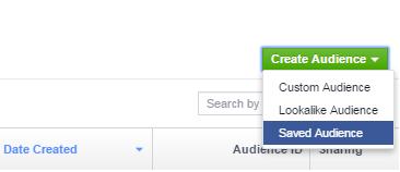Διαφήμιση Facebook - Χρησιμοποίηση Saved Audiences