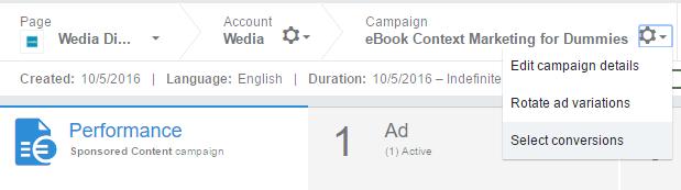 Σχεδίαση καμπάνιας LinkedIn - Conversion Tracking