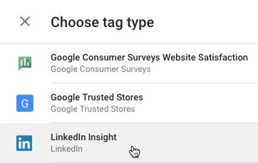LinkedIn Insight Tag με Google Tag Manager