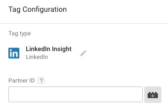 LinkedIn Insight Tag με Google Tag Manager - Συμπλήρωση ID