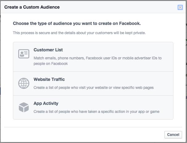facebook ads create custom audiance