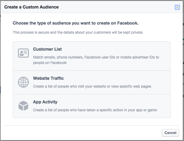 facebook ads create custom audiance