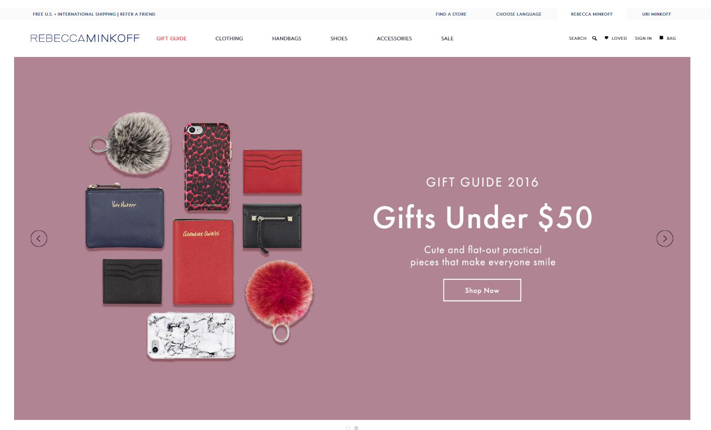 e-shop Rebecca Minkoff - gift guide