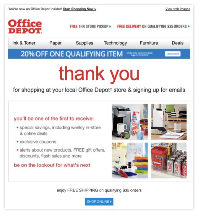 eshops - Email καλωσορίσματος