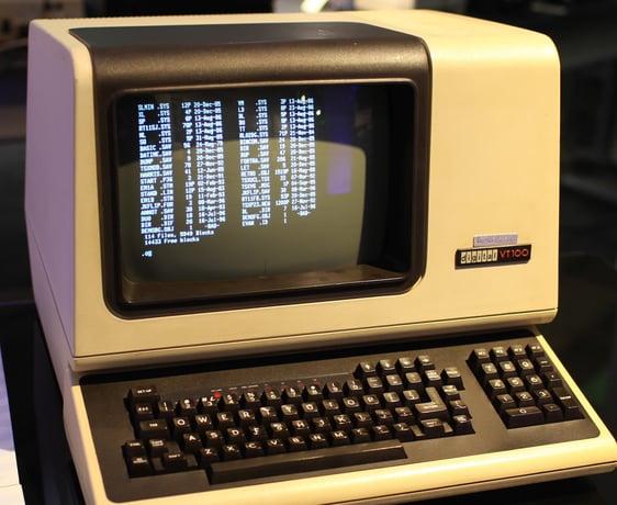 DEC VT100 terminal 1970s