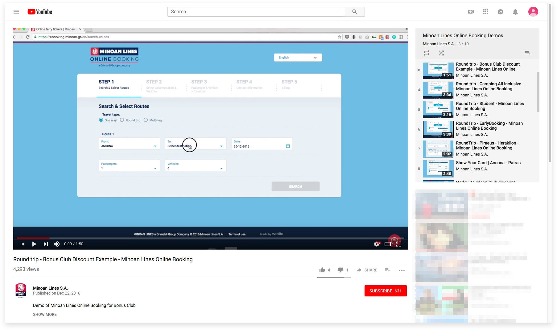 wedia Youtube e-booking - How to videos