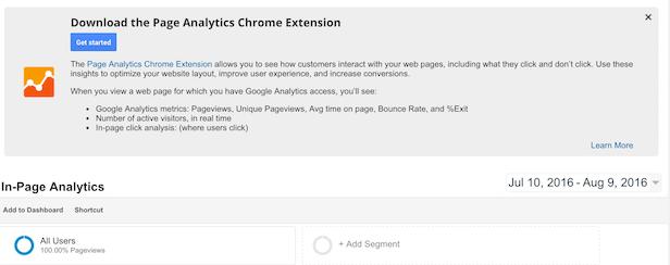 Google Analytics chrome extension