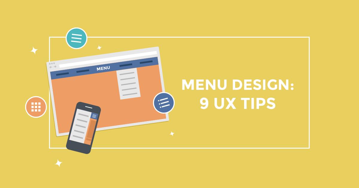 9 UX συμβουλές για το σχεδιασμό ενός website menu