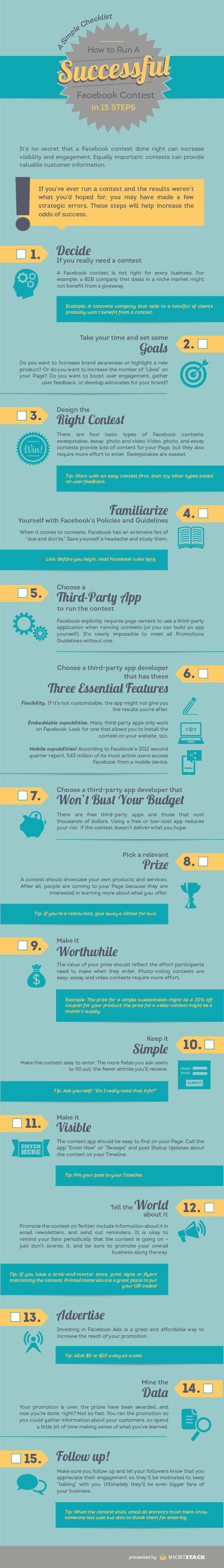 Infographic για επιτυχημένους Facebook διαγωνισμούς