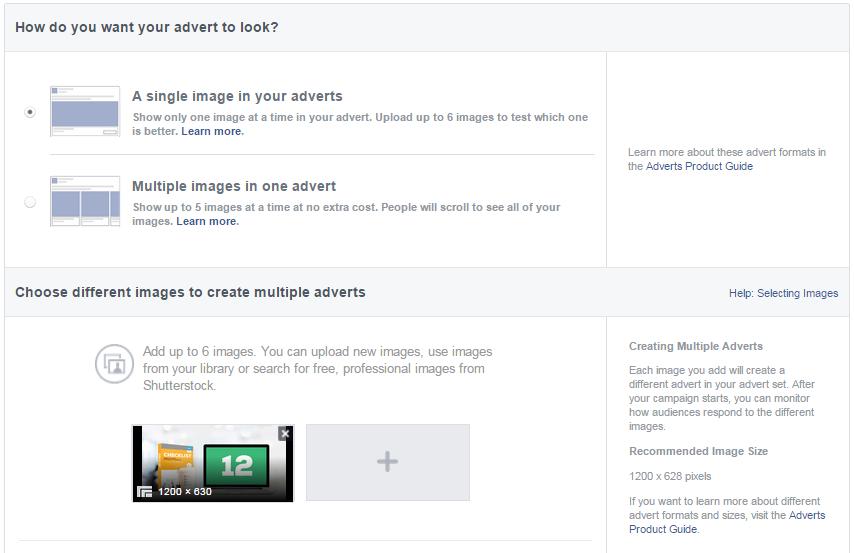 facebook ads advert look