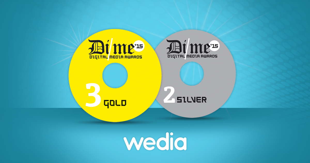 5 Digital Media Awards για τη Wedia!