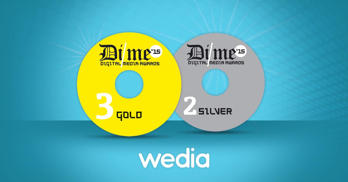 5 Digital Media Awards για τη Wedia!