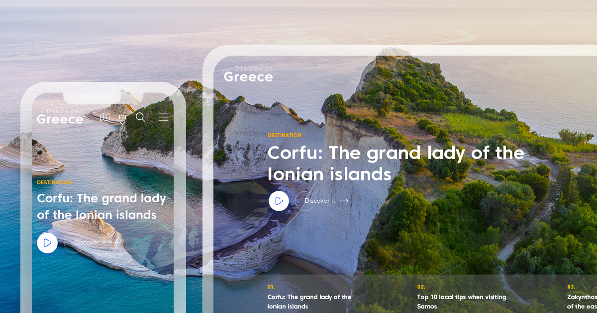 DiscoverGreece.com new project by wedia