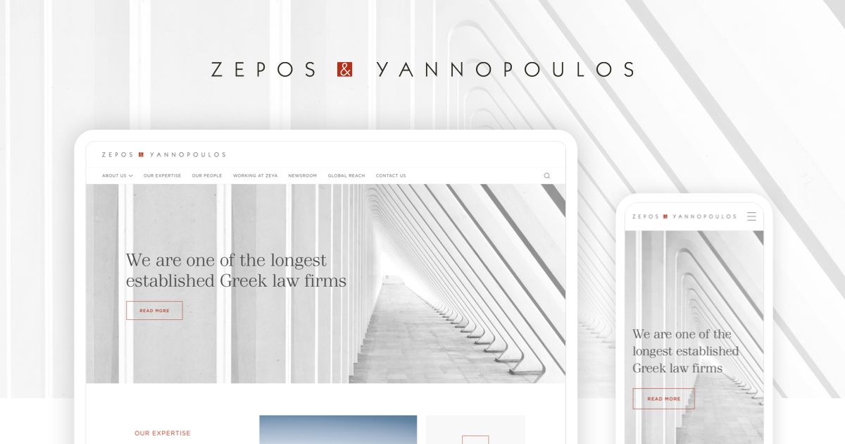 Zepos Yannopoulos law firm new website by wedia